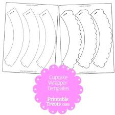 Cupcake Wrapper Template From Diy Wrappers And Such