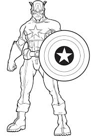 Captain America Printable Coloring Book Pages
