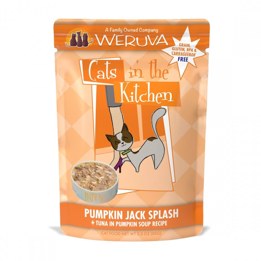 Weruva Cats in The Kitchen Pumpkin Jack Splash Pouches Wet Cat Food - 3 oz, Case of 12