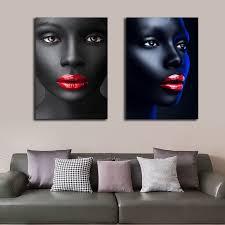 afrikanische frauen rot lippen porträt poster malerei für wohnzimmer dekorative bilder wand kunst poster und drucke kunstwerk buy personalisierte