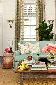 Southern Living Living Room Furniture by Turquoise Blue Sofa Cottage Living Room Sherwin Williams