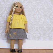 The Potato Chip Skirt And Top Pattern Set For 18u2033 Doll PDF Tie