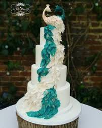Our Peacock wedding cake We Did Pinterest