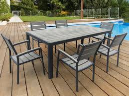 salon de jardin bois et metal promo chaise de jardin maisondours