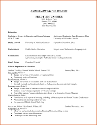 Examples Of Bad Resumes For High School Students Luxury Education Resume
