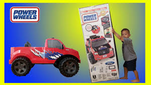 Toddler Unboxing Ford Little F-150 6V Battery Power Wheels Electric ... Unboxing Assembling The Power Wheels Ride On Ford F 150 Extreme Rc Monster Truck Video For Kids Axial Jam Max D Father Son Atlanta Motorama To Reunite 12 Generations Of Bigfoot Mons Boys Nickelodeon Blaze 6v Battery Power Wheel Monster With Rubber Tires Chevy 4x4 18 Scale Offroad Is An Hnr Baja Hobby Rc Car 110 Off Road H9801 Maxs Huge Power Wheels Collections Unloading His 26999 Was 399 Fisherprice Dune Racer Lava Red F150 Purple Camo Walmart Canada Kids Ride On Truck Wheels