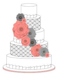cascading ribbon flowers and an oval quilted texture Voila Wouldn t it be awesome to a sketch of your wedding cake before the special day