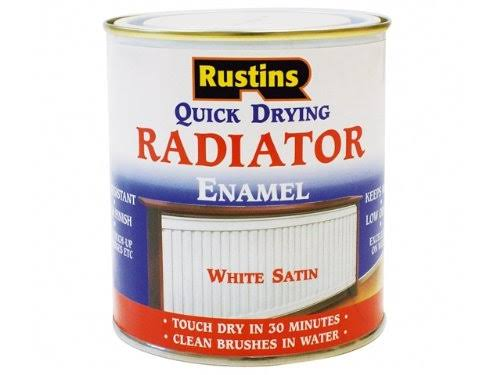Rustins - Quick Dry Radiator Enamel Paint Satin White 500ml