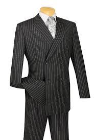 men u0027s executive double breasted suit pinstripe black upscale