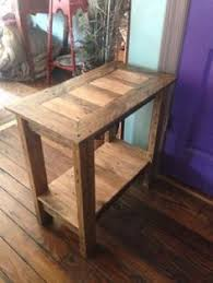hand made wooden pallet end table the table pictured has an early