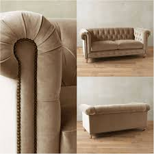 Tufted Velvet Sofa Bed by Beige Ivory Tufted Velvet Chesterfield Sofa Chesterfield Fabric