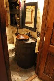 Primitive Bathroom Decorating Ideas by Best 20 Wine Barrel Sink Ideas On Pinterest Barrel Sink Barrel