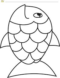 Rainbow Fish Template Pdf Pages Page Vbs Large Printable Animal