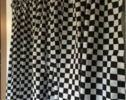 Checkered Flag Window Curtains by Checkered Curtain Etsy