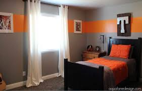 paint for boys room with grey and orange colors combination