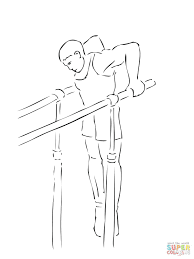 Click Parallel Bars Gymnastics Coloring Pages Barbie Christmas Full Size