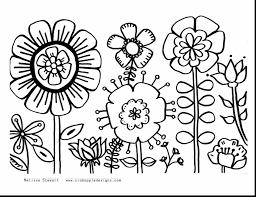 Good Summer Flower Coloring Pages Printable With Free For Adults