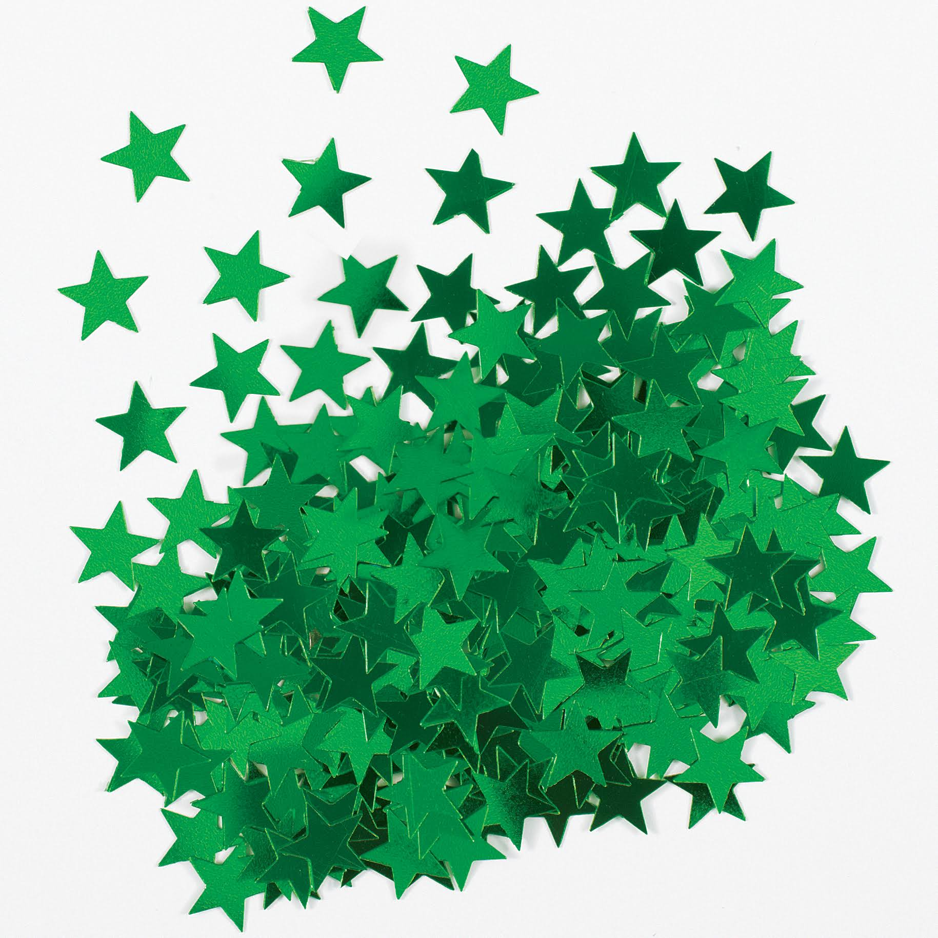 Unique Metallic Star Confetti - Green, 0.5oz
