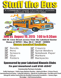 Stuff The Bus For Students In Need - Learning Resource Center