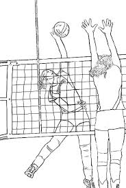 Realistic Coloring Page Of Volleyball