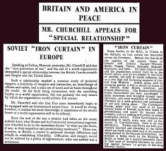 Churchills Iron Curtain Speech Bbc by 5th March 1946 Winston Churchill
