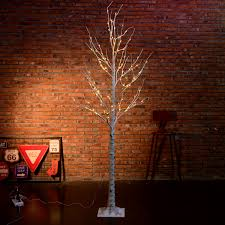 Ebay Christmas Trees 7ft by 7ft 120 Pre Lit Led Birch Twig Tree Light Wedding Cafe Bar Decor