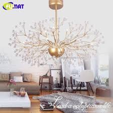 großhandel fumat led kristall kronleuchter floral französisch glanz chrom glas pendelleuchte wohnzimmer schlafzimmer moderne kunst kronleuchter