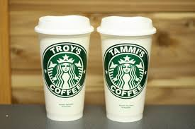 Personalized 2 Starbucks Cups