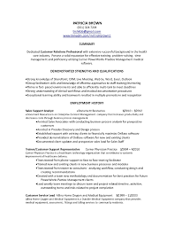 Customer Service Summary Resume Professional Inside Profile Examples