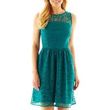 jcpenney light blue dress teal dress studio 1 lace illusion fit and flare dress jcpenney