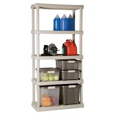 Sterilite 2 Shelf Storage Cabinet 2 Pack by 2 Sterilite 01558501 Heavy Duty 5 Shelf Shelving Ventilated