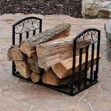 Sunnydaze 2ft DESIGNER Log Holder Outdoor Firewood Racks