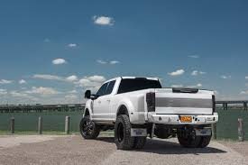 2017 Lifted 4x4 Ford F-350 Platinum Dually White Truck Build RAD