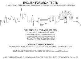 100 English Architects ENGLISH FOR ARCHITECTS Carmen Domenech Bunce