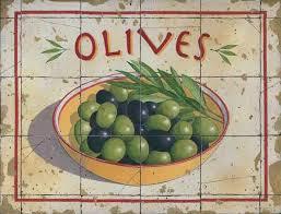 Olives Vintage Metal Sign