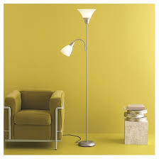 Halogen Floor Lamps At Target by Torchiere Floor Lamp With Task Light Silver Room Essentials