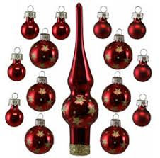 Shop Online For Miniature Red Glass Trim Christmas Ornament Sets Today
