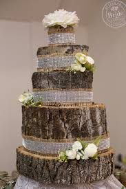 Rustic Wedding Idea A Fake Faux Cake Made Entirely Out Of Logs