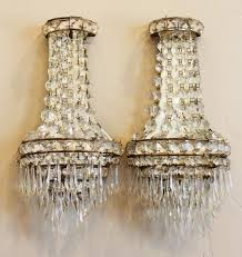 chandelier wall sconces pair deco chandy