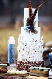 Birch Wood Forest Rustic Wedding Cake