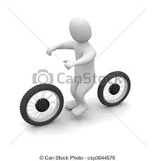 Man And Dirt Bike 3d Rendered Illustration