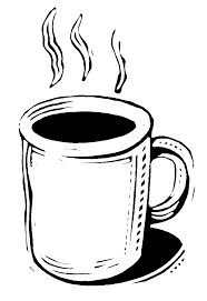 Coffee clipart black and white 3
