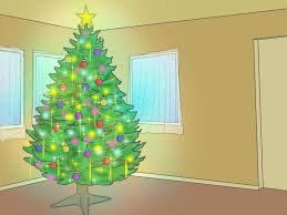 Types Of Christmas Trees With Sparse Branches by 3 Ways To Put Up A Christmas Tree Wikihow