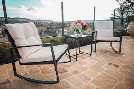 SUNCROWN Outdoor 3-Piece Rocking Bistro Set: Black Wicker Furniture-Two  Chairs With Glass Coffee Table (Beige Cushion) Americana Wicker Bistro Table And Chairs Set Plowhearth Royalcraft Cannes Brown Rattan 3pc 2 Seater Cube Breakfast Ceylon Outdoor 3piece By Christopher Knight Home Hampton Bay Aria 3piece Balcony Patio Sirio Valentine Swivel Ellie 3 Piece Folding Fniture W Round In Dark Outdoor Cast Alinium Rattan Ding Sets Georgina With Cushions Wilko Effect