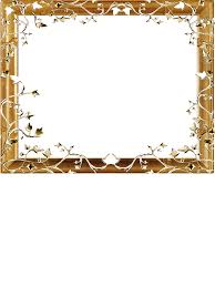 PNG Frame Gold On A Transparent Background 1200 X 1376