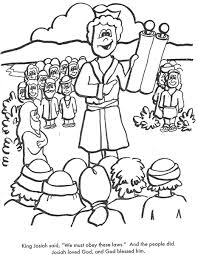 BIBLE COLORING PAGES King Josiah