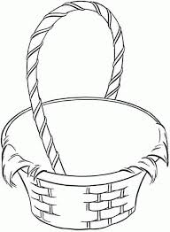 Empty Basket Coloring Page