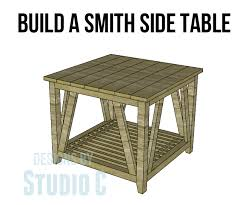 build a smith side table u2013 designs by studio c