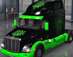 100 Monster Truck Simulator Peterbilt 579 Monster Energy Skin Mod ATS Mod American