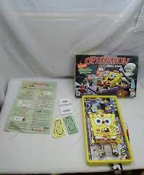 SPONGEBOB SQUAREPANTS EDITION OPERATION GAME MILTON BRADLEY 2007 Works Great